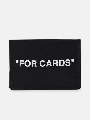 OFF-WHITE - BLACK SKIN QUOTE CARD HOLDER
