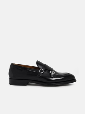 DOUCAL'S - BLACK DUCKLE BUCKLE LOAFERS