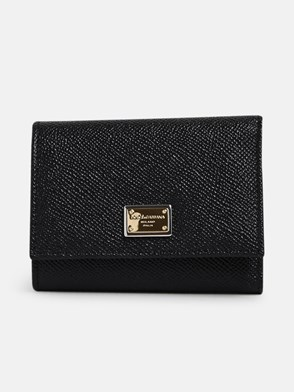 DOLCE & GABBANA - BLACK DAUPH SMALL WALLET