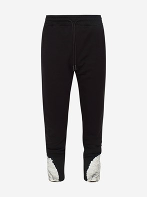 MARCELO BURLON COUNTY OF MILAN - BLACK AND WHITE WINGS PANTS