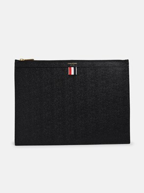 THOM BROWNE - BLACK DOCUMENT HOLDER POUCH