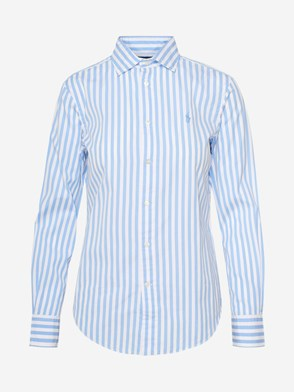POLO RALPH LAUREN - LIGHT BLUE STRIPED GEORGIA SHIRT