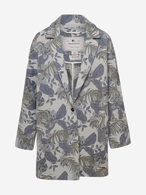 WOOLRICH JOHN RICH & BROS - MULTICOLOR FLORAL TRENCH COAT