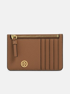 TORY BURCH - BROWN CARD HOLDER