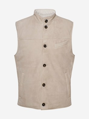 ELEVENTY - IVORY REVERSIBLE QUILTED VEST