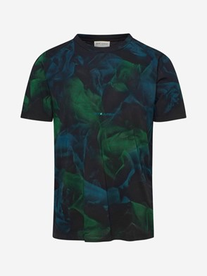 SAINT LAURENT - T-SHIRT VERDE E NERA