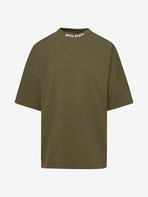 PALM ANGELS - T-SHIRT LOGO OVER VERDE