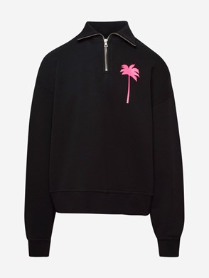PALM ANGELS - FELPA PXP MEZZA ZIP NERA