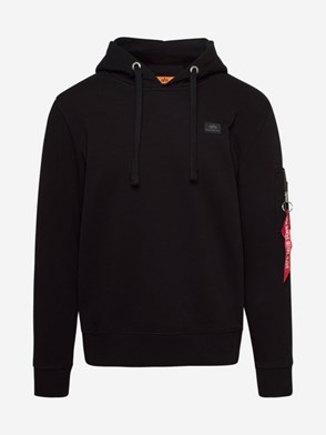 ALPHA INDUSTRIES - FELPA X-FIT NERA