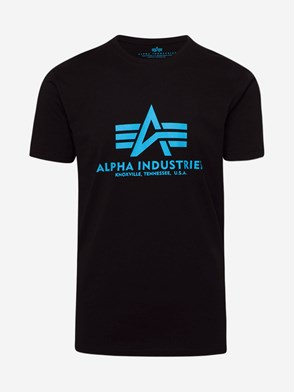 ALPHA INDUSTRIES - T-SHIRT BASIC BLU