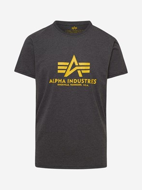 ALPHA INDUSTRIES - T-SHIRT BASIC GRIGIA