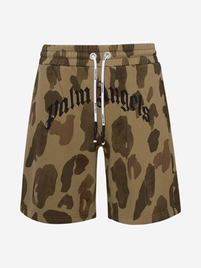 PALM ANGELS - GREEN CAMOUFLAGE SHORTS