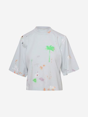 PALM ANGELS - T-SHIRT PXP AZZURRA