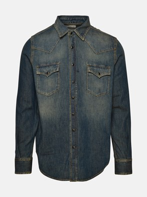 SAINT LAURENT - BLUE DENIM SHIRT