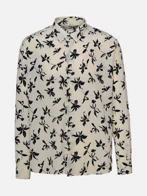 SAINT LAURENT - IVORY FLORAL SHIRT