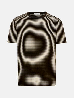 SAINT LAURENT - T-SHIRT RIGATA NERA