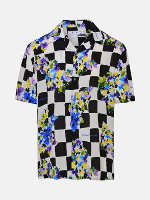 OFF-WHITE - CAMICIA CHEK FLOWERS MULTICOLO