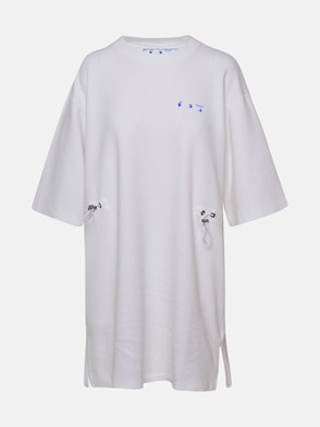 OFF-WHITE - VESTITO FLOWERS ARROWS BIANCO
