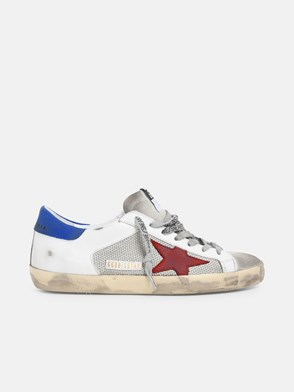 GOLDEN GOOSE DELUXE BRAND - RED AND SILVER STELLA SNEAKERS