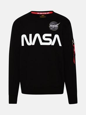 ALPHA INDUSTRIES - BLACK NASA REFLECTIVE SWEATSHIRT