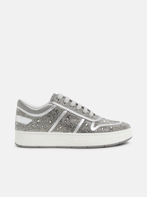 JIMMY CHOO - SILVER HAWAII SNEAKERS