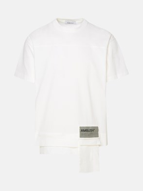 AMBUSH - T-SHIRT WAIST POCKET BIANCA