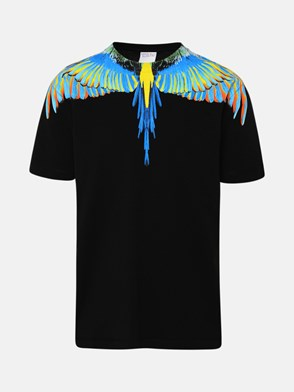 MARCELO BURLON COUNTY OF MILAN - T-SHIRT ALI MULTICOLORE NERA