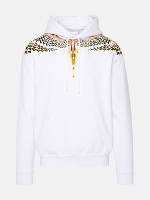 MARCELO BURLON COUNTY OF MILAN - FELPA GRIZZLY WINGS BIANCA