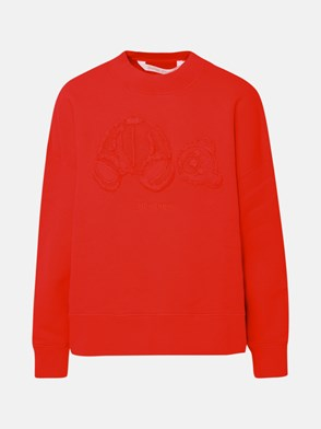 PALM ANGELS - FELPA GD BEAR CREWNECK ROSSO