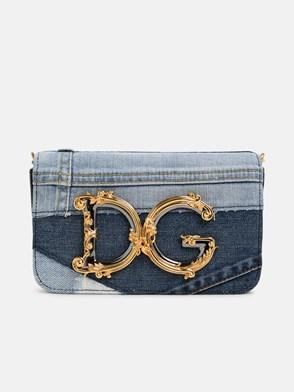 DOLCE & GABBANA - DENIM PATCH CROSSOVER BAG
