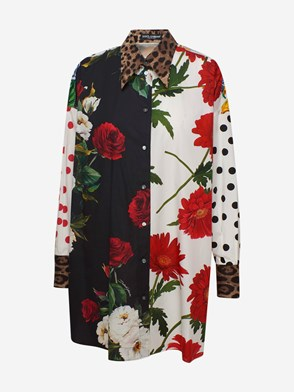 DOLCE & GABBANA - MULTICOLOR FLOWERS SHIRT