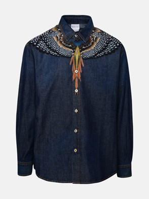 MARCELO BURLON COUNTY OF MILAN - BLUE GRIZZLY WINGS SHIRT