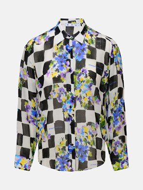 OFF-WHITE - CAMICIA  CHECK FLOWERS NERA