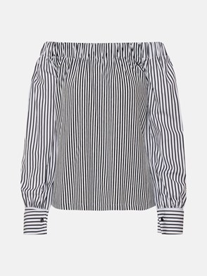 MAX MARA - WHITE STRIPED CONERO SHIRT