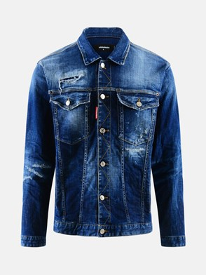 DSQUARED2 - GIUBBINO JEANS OVER BLU