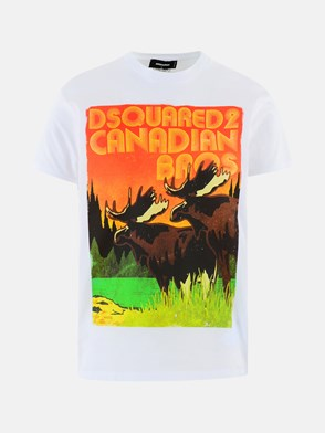 DSQUARED2 - T-SHIRT STAMPA CANADIAN BIANCA