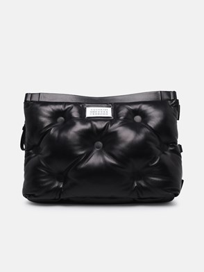 MAISON MARGIELA - BLACK QUILTED NAPPA LEATHER CONVERTIBLE GLAM SLAM BAG