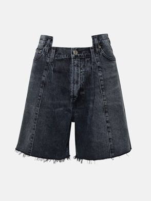 AGOLDE - JEANS PIEED ANGLED IN COTONE NERI