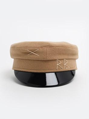 RUSLAN BAGINSKIY - BEIGE WOOL BAKER BOY HAT