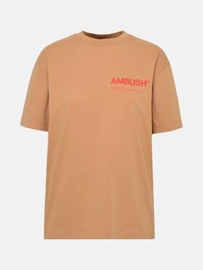 AMBUSH - T-SHIRT WORKSHOP  IN COTONE MARRONE