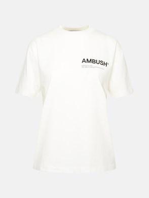 AMBUSH - T-SHIRT WORKSHOP IN COTONE BIANCA