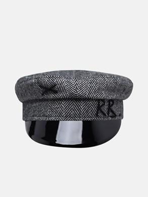RUSLAN BAGINSKIY - GREY WOOL BAKER BOY HAT