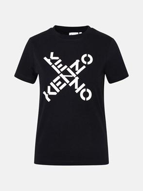 KENZO - T-SHIRT SPORT 'BIG X' IN COTONE NERA