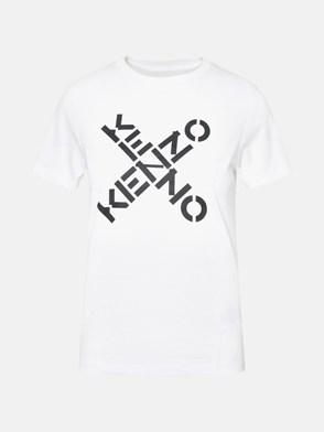 KENZO - SPORT BIG X T-SHIRT IN WHITE COTTON