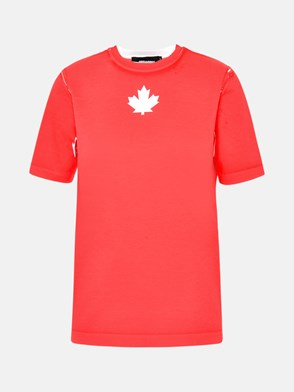 DSQUARED2 - T-SHIRT IN COTONE ROSSA