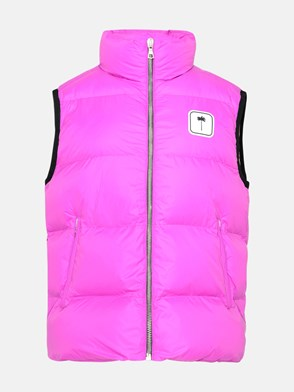 PALM ANGELS - GILET IN POLIAMMIDE FUCSIA