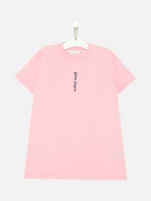 PALM ANGELS - T-SHIRT CLASSIC OVER IN COTONE ROSA