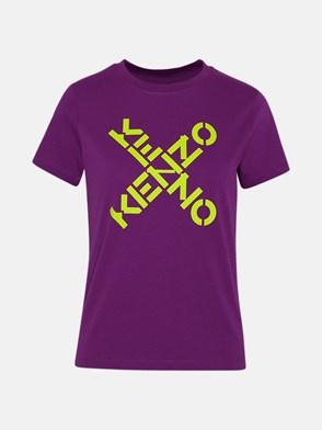 KENZO - T-SHIRT KENZO SPORT BIG X IN COTONE VIOLA