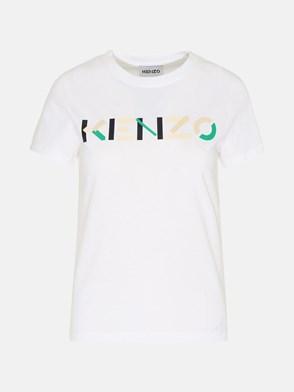 KENZO - T-SHIRT KENZO LOGO IN COTONE BIANCA