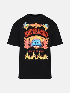 VISION OF SUPER - T-SHIRT CIRCUS LAND NERA IN COTONE